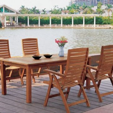 China Holiday Village Waterproof Teak Wood Outdoor Furniture