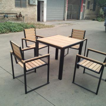 China Coffee Shop Restaurant Teak Outdoor Furniture Hotel